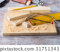 Wood and tools for measuring level DIY craft 31751343