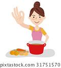 Young housewife kitchen 31751570