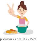 主婦 家庭主婦 年輕 31751571