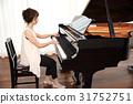 여성, 여자, 피아노 31752751