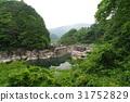 Shinshu Kiso Road风景地板远处观察睡眠感觉Karaso Urashima传说,在Kiso河遗迹被侵蚀的奇石 31752829