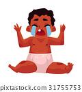 Cute black, African American baby, child in diaper 31755753