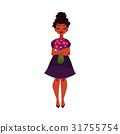Black, African American woman, girl holding bunch 31755754
