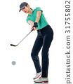 高尔夫 高尔夫球手 抠图 31755802