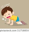 Boy kneel down have Dizziness 31758850