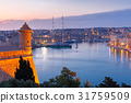 Grand harbor and Birgu from Valletta, Malta 31759509