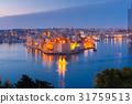 Grand harbor and Senglea from Valletta, Malta 31759513