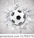 Sport illustration with soccer ball coming in 31760378