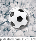 Sport illustration with soccer ball coming in 31760379