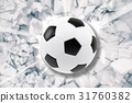 Sport illustration with soccer ball coming in 31760382