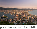 Aerial view of Hakodate during sunset, Japan 31760602
