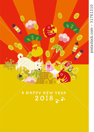 新年賀卡 賀年片 狗年 31761310