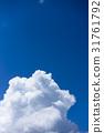 Thunderhead, blue sky, sky 31761792