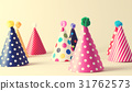 Party hats on an off white background 31762573