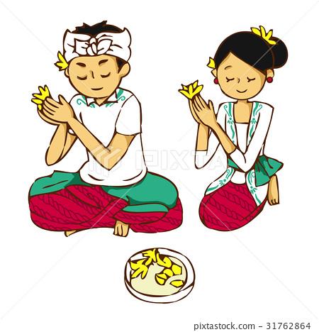 Balinese people's prayers 31762864