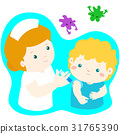 Vaccination child cartoon vector. 31765390