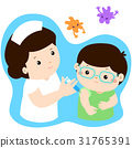 Vaccination child cartoon vector. 31765391
