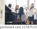 高中女生 音乐 风仪器 31767514