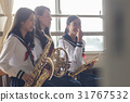 Practice scene of brass band 31767532