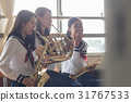 high school girl, club activities, instrument 31767533