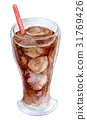 ice coffee watercolour 31769426