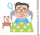 Male menopausal insomnia illustration 31769699
