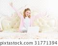 女孩 少女 便携电脑 31771394