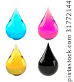 Ink drops set CMYK 31772144