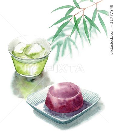 綠茶 水彩畫 手繪 31777849
