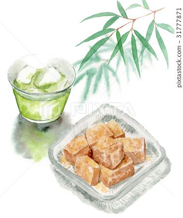綠茶 水彩畫 手繪 31777871