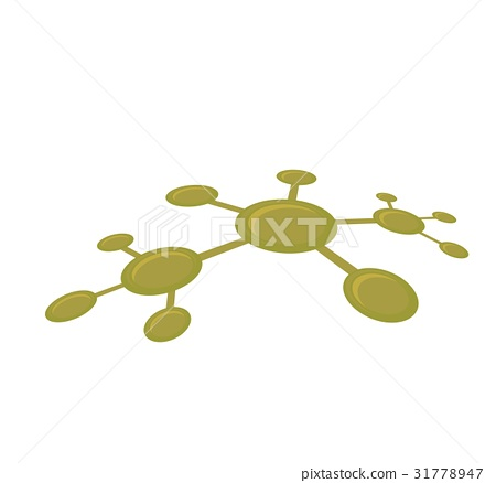 Vector illustration of molecular network 31778947