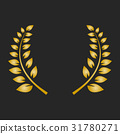 laurel, gold, vector 31780271