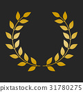 laurel, gold, vector 31780275