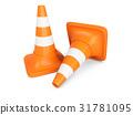 traffic cone orange 31781095