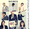 Collage of Diverse Group of Business People 31785012