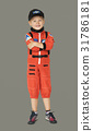 Little boy with astronaut dream job smiling 31786181