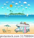 Summer beach camping island landscape  31788664