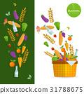 Basket with fresh natural vegetables 31788675