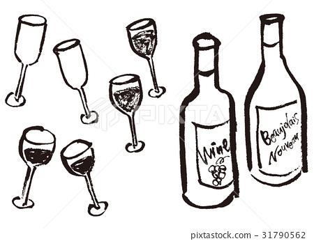와인, 와인 잔, 와인 글래스 31790562
