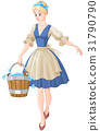 Cinderella bucket woman 31790790