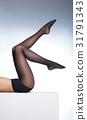 Beautiful legs in nice pantyhose 31791343