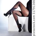 photo of the beautiful legs in nice stockings 31791366