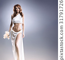 Fashion shoot of Aphrodite styled young woman 31791726