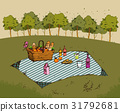Outdoor picnic in park 31792681