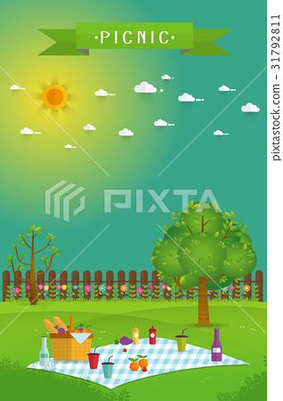 Outdoor picnic in garden 31792811