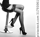 Beautiful legs of a woman in stockings 31793061