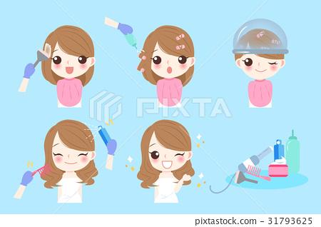 cartoon woman with hair salon 31793625