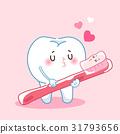 brush cartoon teeth 31793656