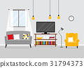 Vector interior of a living room 31794373