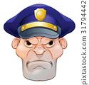 Mean Angry Cartoon Policeman 31794442